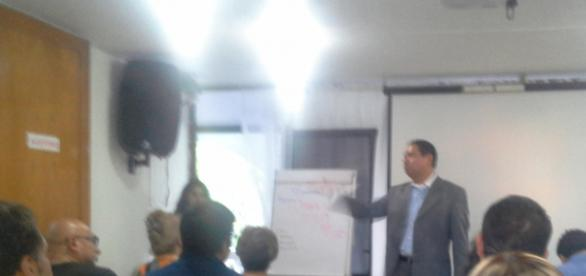 German Velasco Olvera en Conferencia de Prensa