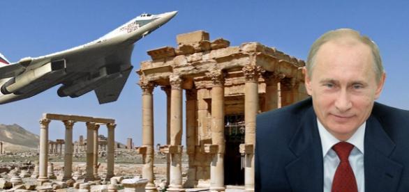 Palmira a fost eliberată cu ajutorul bombardierelor lui Putin