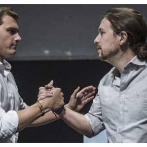 Albert Rivera y Pablo Iglesias en un debate.