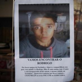 Rodrigo, o jovem de 15 anos encontrado morto.