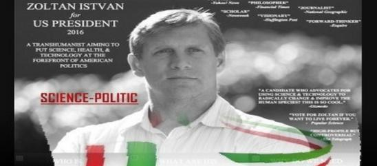 Zoltan Istvan lancia dagli Usa il primo Partito del la Scienza