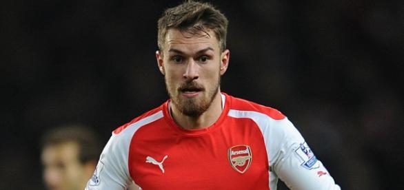 Aaron Ramsey, delantero del Arsenal de Londres.