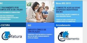 Site de acesso ao portal das finanças