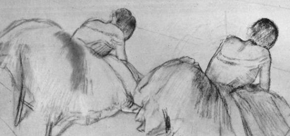 """Degas' """"Two Ballet Dancers Resting"""" Creative Commons"""