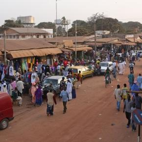 A market in The Gambia (Wikipedia)