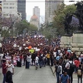 Manifestación de estudiantes y académicos del IPN