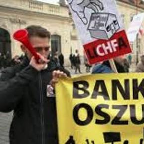Frankowicze protestowali w Warszawie