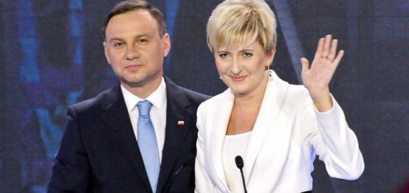 Andrzej Duda z żoną Agatą Kornhauser-Dudą