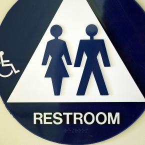 Bathroom signage courtesy of FreeRange by Chance Agrella