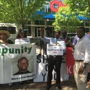 Gambians protesting in Atlanta / Photo via SMBC News