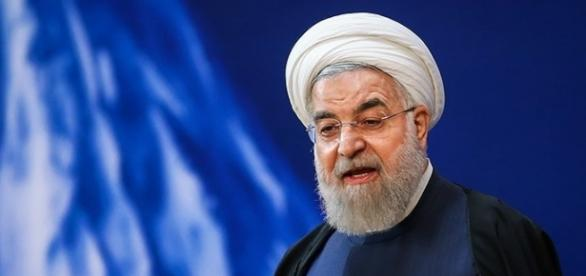 President Hassan Rouhani speaking during a gathering of Iranian athletes in Tehran in March (Photo via Hamed Malekpour, Wikimedia.org)