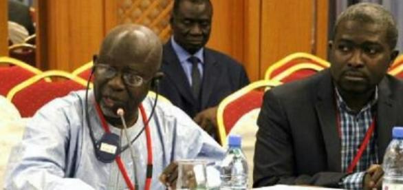 Darboe addressing a meeting at Socialist International / UDP Photo, Kibaaro News