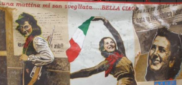 Un immagine simbolo delle donne e la Resistenza