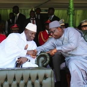President Yahya Jammeh (Gambia) with President Macky Sall (Senegal) in Banjul / Alhagie Manka, State of Mic
