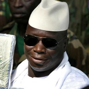 President Yahya Jammeh holds the Holy Qur'an anywhere he goes / State House, Government of The Gambia