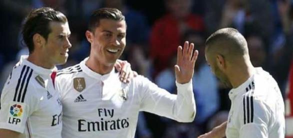 Bale, Benzema e Cristiano, o trio-maravilha do Real Madrid