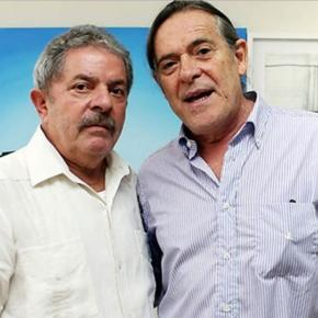 Lula e José de Abreu - Imagem/Facebook