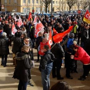 Protestors demonstrate in Belfort, France in March. Thomas Bresson/Flickr.