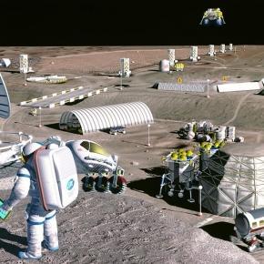 Moon colony concept (Credit NASA)
