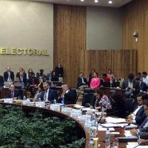 Sesión extraordinaria del Instituto Nacional Electoral (INE)