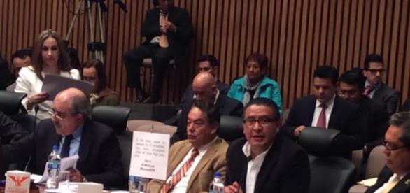 Horacio Duarte, representante de MoReNa en la sesión del INE