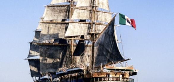 La nave scuola Amerigo Vespucci