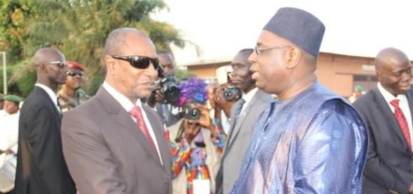 President Conde and President Sall greet after a short meeting / Alhagie Jobe, SMBC News