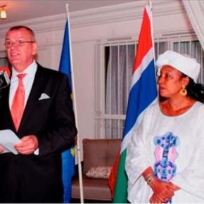 EU Ambassador Attila Lajos with Gambia Foreign Minister Neneh Gaye / Abdoulie Nyockeh, The Point