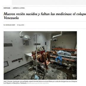 La noticia sobre Venezuela en la página del New York Times