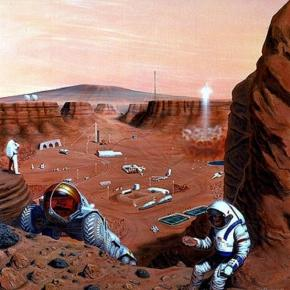 Future explorers on Mars (NASA)