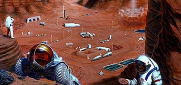 Future explorers on Mars (NASA)