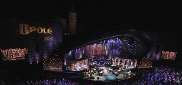 Amfiteatr w Opolu podczas festiwalu. fot. TVP