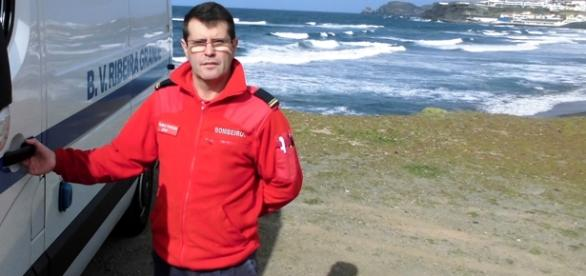 Raulino Ventura é bombeiro na Ribeira Grande (Açores)