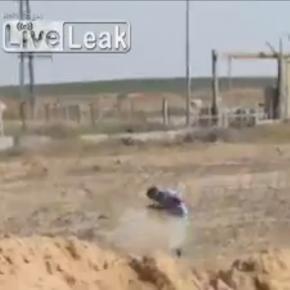 Palestyńczyk został postrzelony na izraelskiej granicy.