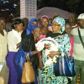 The women after their release outside the court / Alhagie Jobe, SMBC News