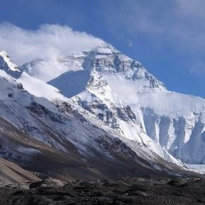Mount Everest from base camp one. Courtesy Rupert Taylor-Price . via Flicr CC