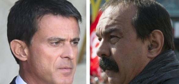 Manuel Valls et Martinez - opinion