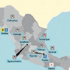 Los estados donde se estaran celebrando elecciones este 5 de Junio 2016