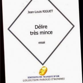 Délire très mince, Jean-Louis Riguet, Editions du Masque d'Or