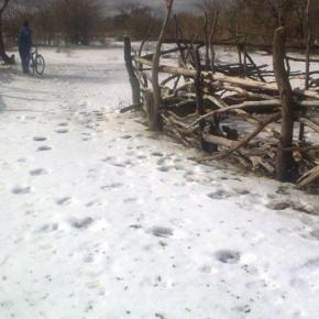 'Snow' in Zimbabwe / Photo via public domain, Facebook