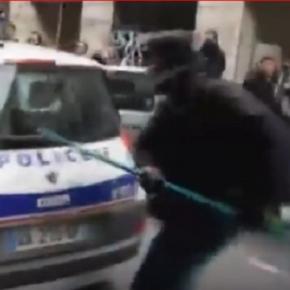 Szene aus You Tube Video: Pariser Randale