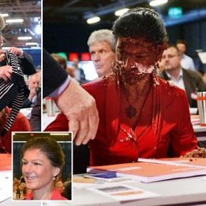 Sarah Wagenknecht, the left party parliamentary leader.
