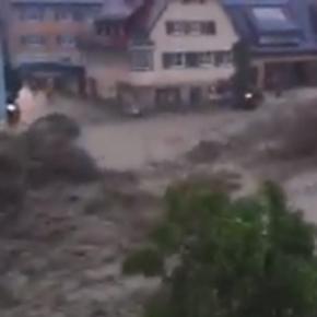 Schwere Überschwemmungen in Braunsbach