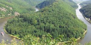 La boucle, visible du promontoire de Cloef