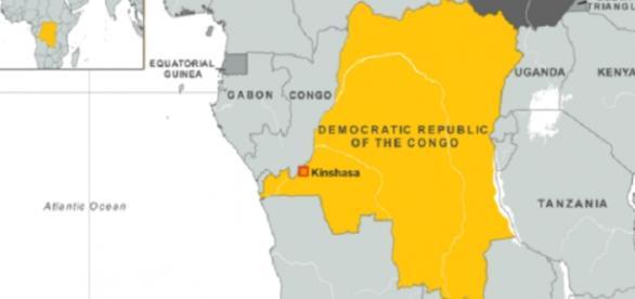 The map of Democratic Republic of Congo/Photo via VOA America
