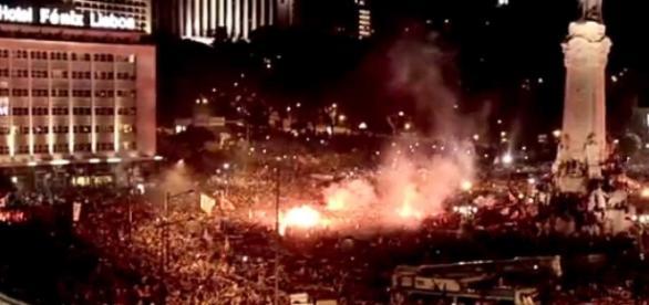 Benfica quer continuar a festejar na rotunda