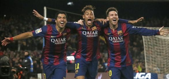 O trio MSN, três das grandes armas do Barcelona