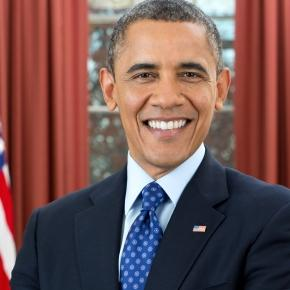 Official photo of Barack Obama (Wikipedia)