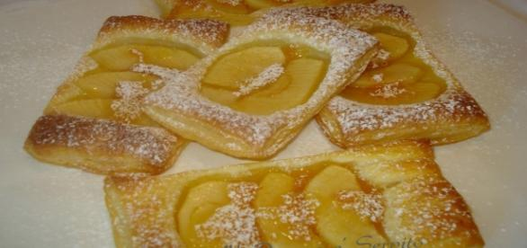 Sfogliatine di mele, un dolce di pasta sfoglia