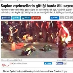 Un ziar de casă al președintelui turc Erdogan a publicat un articol cu un titlu homofob pe site-ul său
